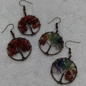 Jewelry - Natural stone chip earrings